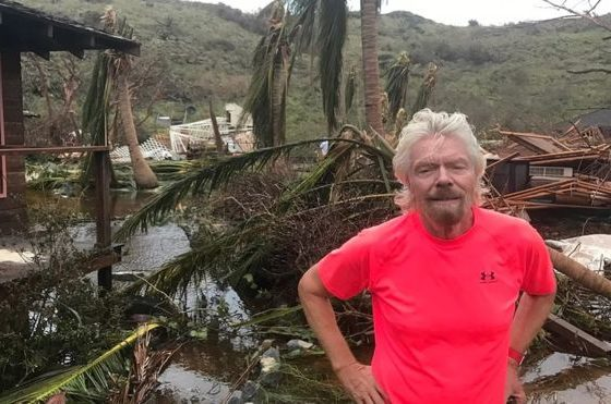 Richard Branson's Caribbean home ruined