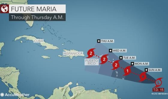 Tropical Storm Maria forms – Tropical Storm watch in effect for Saint Lucia