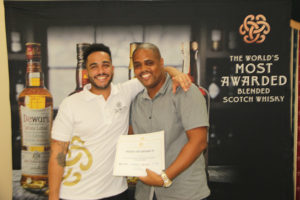 Bacardi Brand Ambassador Collin Brown (left) with Brand manager at PCD Ed Mathurin