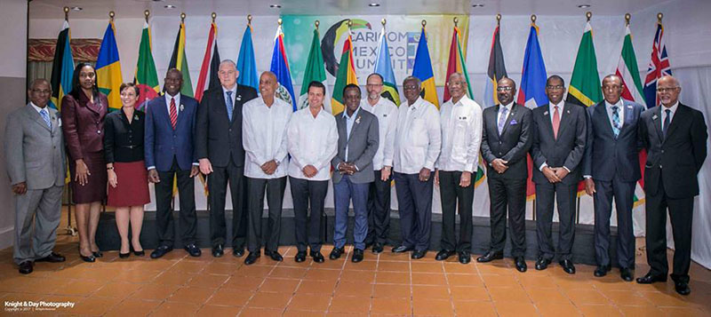Heads of State, Government and Delegation at the Fourth CARICOM-Mexico Summit in Belize, 25 October 2017