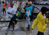 Wilton's Yard residents help clean up Chaussee Road