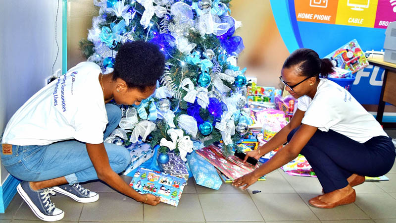 Flow colleagues got Mission Day underwayby bringing in books and toys for the children of Dominica