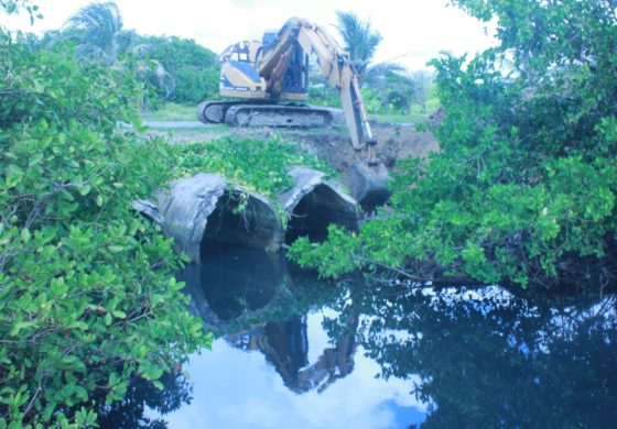 Rehabilitation Works Commence on Major Storm Drain on Sandy Beach in Vieux Fort