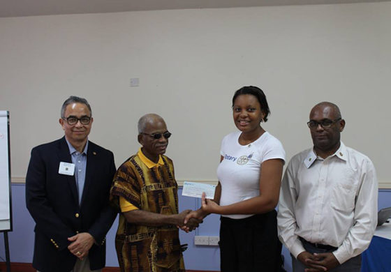 SLBWA receives a gift from Newest Rotarians on the Island!