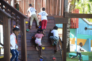Some of the Children Playing and having fun at the Kidz Klub