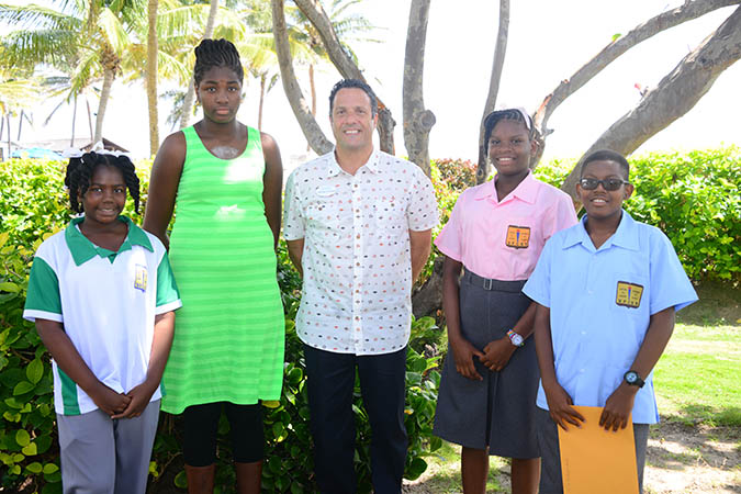 Students Award Winner with Coconut Bay GM Zachary Frangos following Ceremony