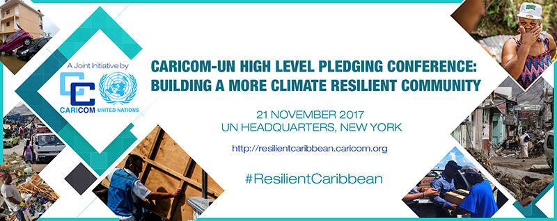 The CARICOM-UN High Level Pledging Conference Banner