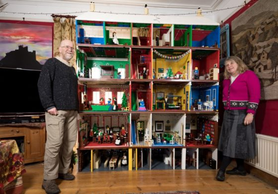 This couple builds an epic LEGO sculpture every Christmas