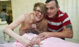 Baby born with heart outside body survives
