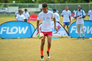 Djal Augustin of Anse La Raye impressed in the Flow Manchester United Football Experience