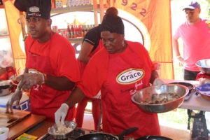 Grace Foods served up some delectable treats to patrons at the Food and Rum Festival