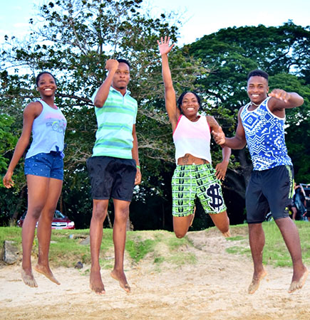 Kayla, Reuben, Shamalyn and Kerick, Four of the Morne Stars Athletes of the Year for 2017