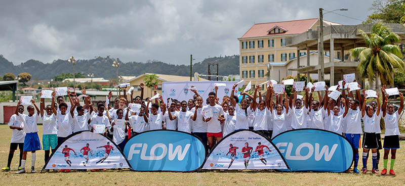 Participants in the Saint Lucia leg of the Flow Ultimate Football Experience