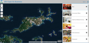 Satellite view of Tortola on the BVI Open for Business app