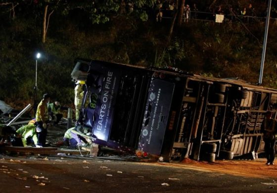 Hong Kong bus crash kills 18
