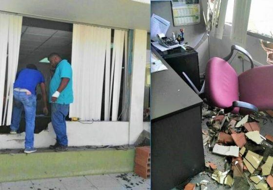 T&T: Angry bank customer takes it out on building