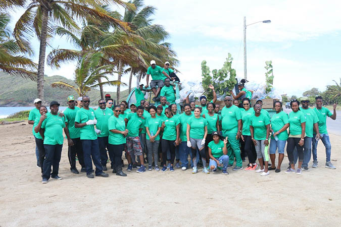 Some of the participating staff members at the conclusion of the Clean-up