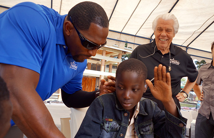 starkey hearing foundation to fit over 600 st lucians with hearing