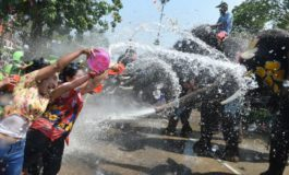 Elephant water battle heralds Thai new year