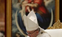 Pope urges church unity, blames divisions on work of devil