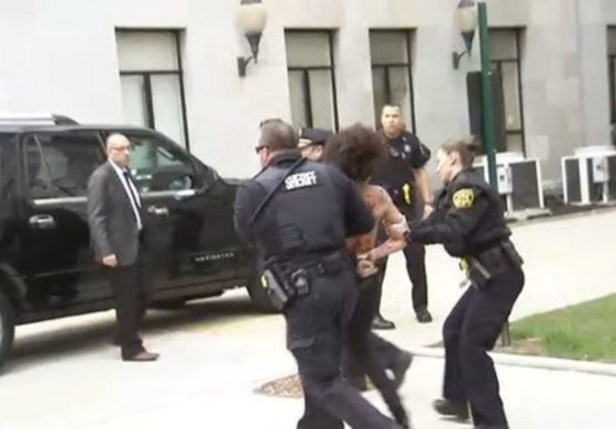 Topless Protester Arrested Outside Of Bill Cosby Retrial