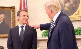 Trump Picks 'Dandruff' Off French President