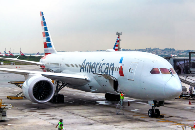 American Airlines jet plane
