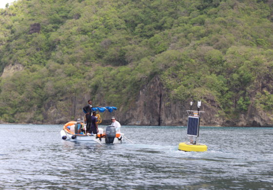 Coral Reef Early Warning System Deployed in Soufriere