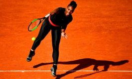 Serena sails through in 'superhero' catsuit