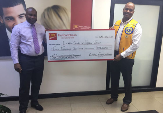 CIBC FirstCaribbean Partners with Gros Islet Lions Club to Raise Funds for Visually Impaired Children