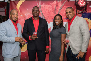 Campari Brand Manager Denver Alcee (second from left) with some PCD team members