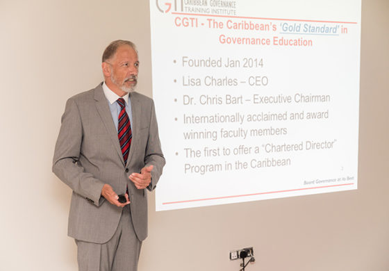 "Caribbean Governance Training Institute Says ""Build Your Business By Building Your Board!"""