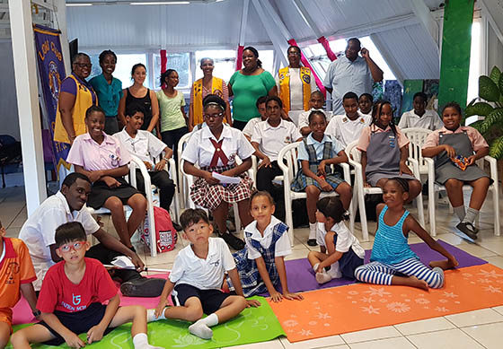 Lion Club of Castries Observe Reading Month