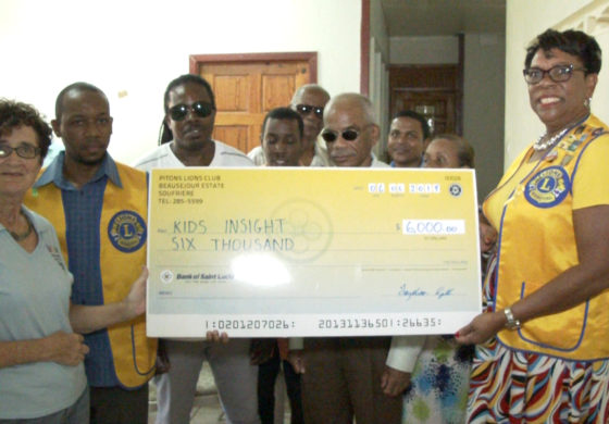Soufriere Pitons Lions Club supports blind and low vision children