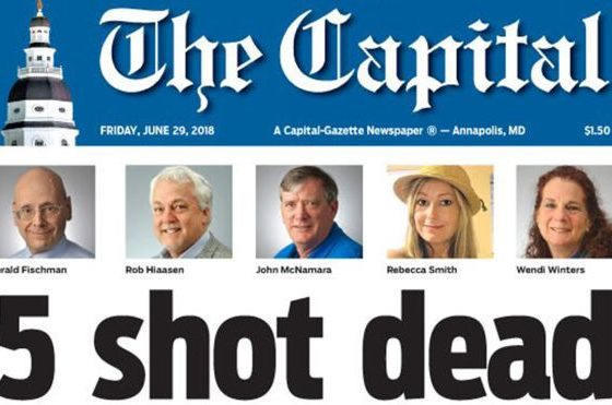 Defiant Capital Gazette puts out 'damn paper' after shooting