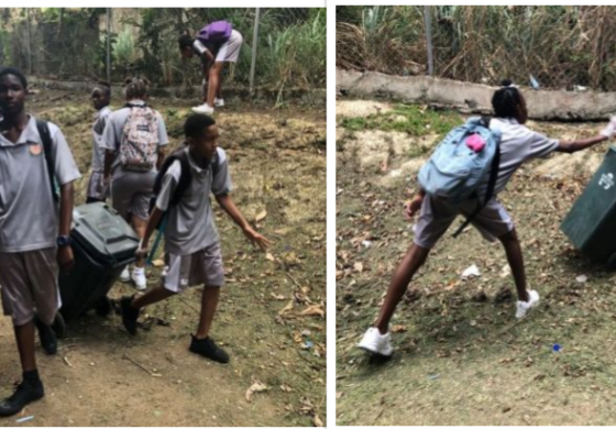 Sir Ira Simmons Secondary promotes a clean environment