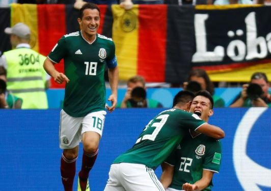 Mexico stun champions Germany 1-0