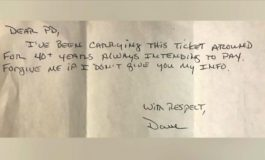 Man pays parking ticket... 44 years late