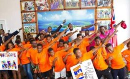Bolt encourages young athletes in Bermuda