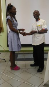 Cheque was presented to FRC by Mrs. Magaret Lubrin Aoki