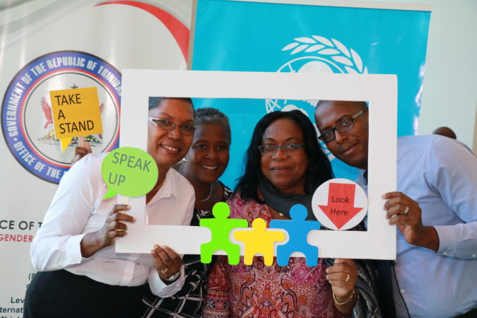 Participants enjoying the photo booth at the Regional Child Protection Focal Points meeting