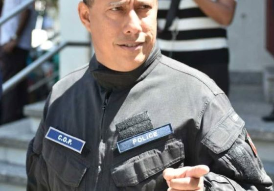 T&T Police Chief on front line with his officers