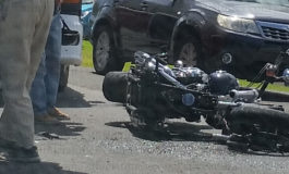 Two motorcyclists injured in collision