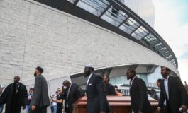 Activists march with coffins at AT&T Stadium to protest Botham Jean killing
