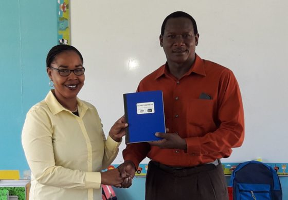 Montoute donates school supplies